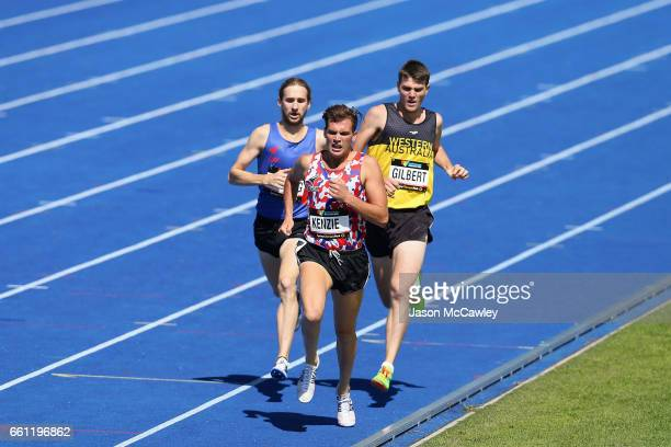Deon Kenzie of Tasmania competes in the mens 1500m ambulant final during day six of the Australian Athletics Championships at Sydney Olympic Park...