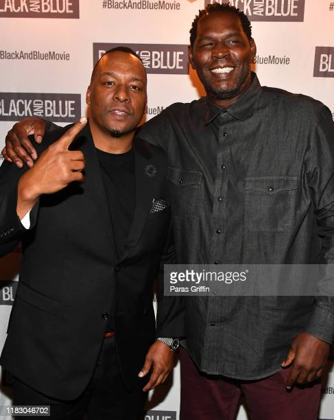 Deon Taylor and Bob Whitfield attend Black and Blue Atlanta special screening after party at Sweet Auburn BBQ on October 23 2019 in Atlanta Georgia