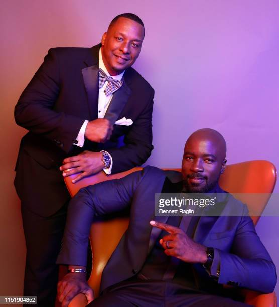 Deon Taylor and Mike Colter pose for a portrait during the BET Awards 2019 at Microsoft Theater on June 23 2019 in Los Angeles California