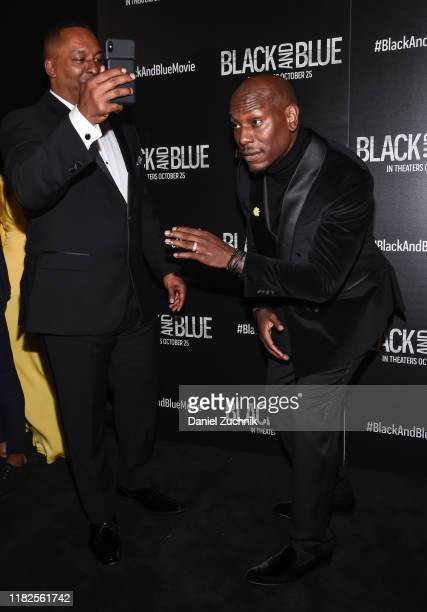 Deon Taylor and Tyrese Gibson attend the Black and Blue New York Screening at Regal EWalk on October 21 2019 in New York City