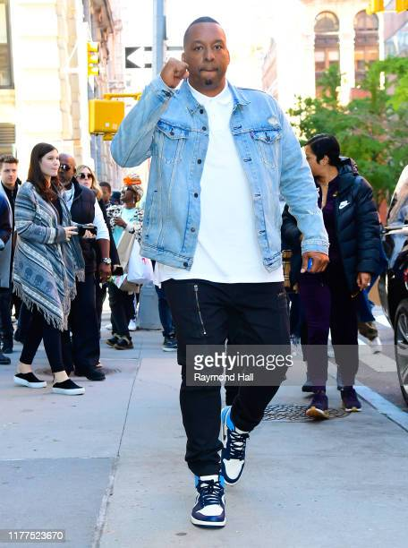 Deon Taylor is seen outside build studio on October 21 2019 in New York City