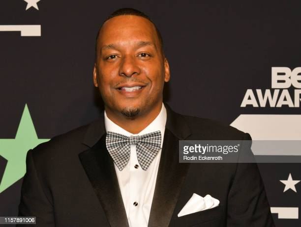 Deon Taylor poses for a portrait at the 2019 BET Awards on June 23 2019 in Los Angeles California