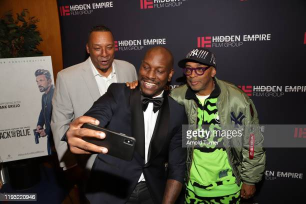 Deon Taylor Tyrese Gibson and Spike Lee arrive at the 51st NAACP Image Awards FYC Screening Series Presents a Special Screening of BLACK AND BLUE...