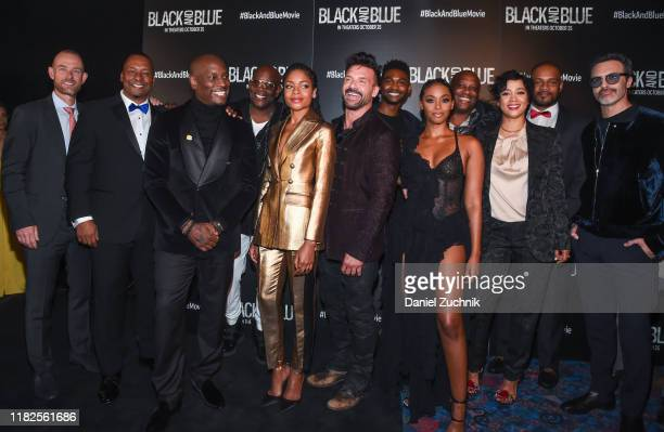 Deon Taylor Tyrese Gibson Naomie Harris Frank Grillo Nafessa Williams Roxanne Taylor Reid Scott and cast and crew attend the Black and Blue New York...