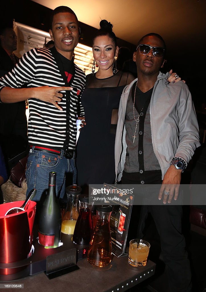 Deon Young, Bridget Kelly and Marcus Canty attend the Remy Martin V.S.O.P Ringleader Culmination Event with Robin Thicke at Marquee on March 4, 2013 in New York City.