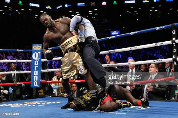 Deontay Wilder defeated Bermane Stiverne by first round knockout for Showtime's Championship Boxing on November 04, 2017 at the Barclay's Center in...