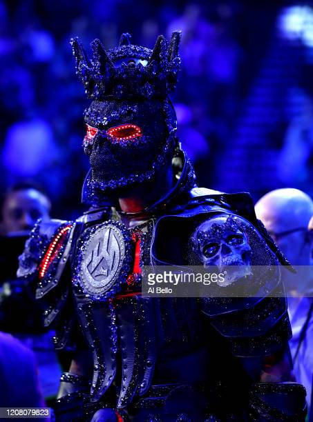 Deontay Wilder enters the ring prior to the Heavyweight bout for Wilder's WBC and Fury's lineal heavyweight title against Tyson Fury on February 22,...