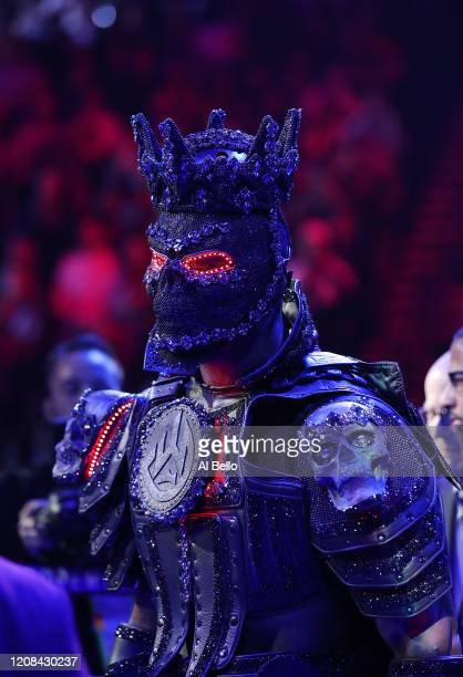 Deontay Wilder enters the ring prior to the Heavyweight bout for Wilder's WBC and Fury's lineal heavyweight title against Tyson Fury on February 22...