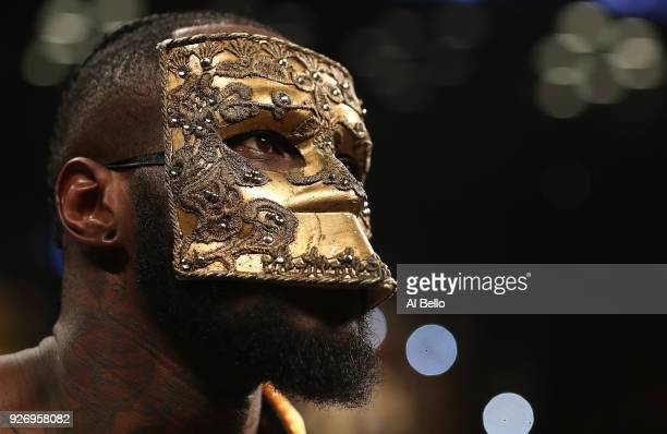 Deontay Wilder looks on before his fight against Luis Ortiz during their WBC Heavyweight Championship fight at Barclays Center on March 3 2018 in the...