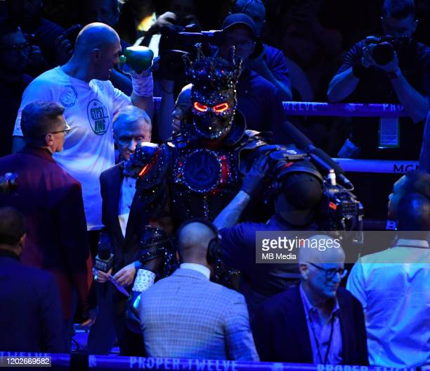 Deontay Wilder makes his grand entrance at the MGM Grand Hotel February 22 2020 in Las Vegas Nevada Tyson Fury took the win over Deontay Wilder by...