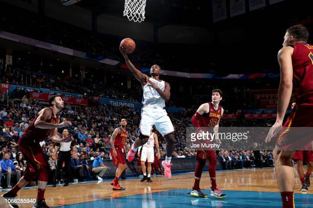 Deonte Burton of the Oklahoma City Thunder shoots the ball against the Cleveland Cavaliers on November 28 2018 at Chesapeake Energy Arena in Oklahoma...