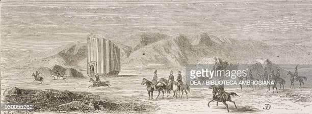 Departing for the hunt on the Rey plains Iran drawing by Duhousset from Hunting in Persia by Emile Duhousset from Il Giro del mondo Journal of...