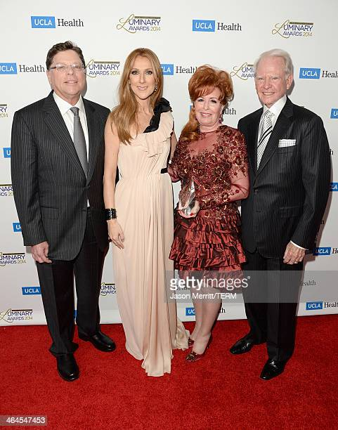 Department Chair UCLA Head and Neck Surgery Dr Gerald Berke musician Celine Dion and honorees Diane Bashor and James Bashor attend the UCLA Head and...