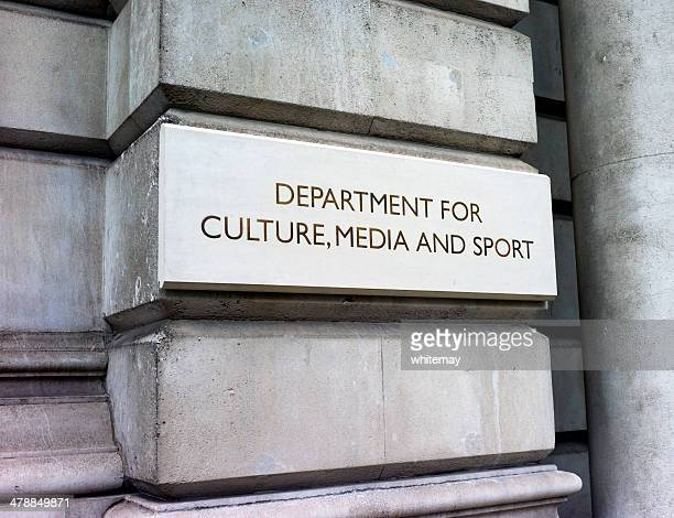 department for culture, media and sport - sign - identity politics stock pictures, royalty-free photos & images