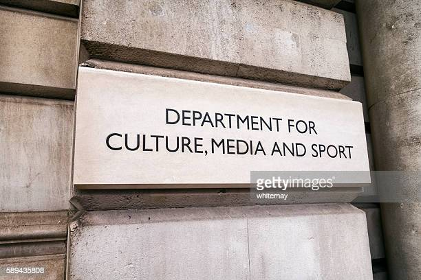 Department for Culture, Media and Sport - sign