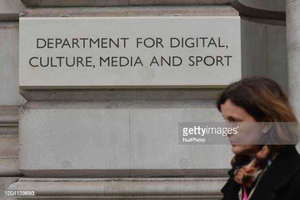 Department for Digital, Culture, Media and Sport. On Saturday, 25 January 2020, in London, United Kingdom.