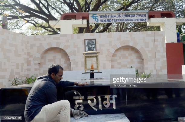 Department of Art Direction and Production Design of Film and Television Institute of India made a replica of Mahatma Gandhi memorial Rajghat Delhi...
