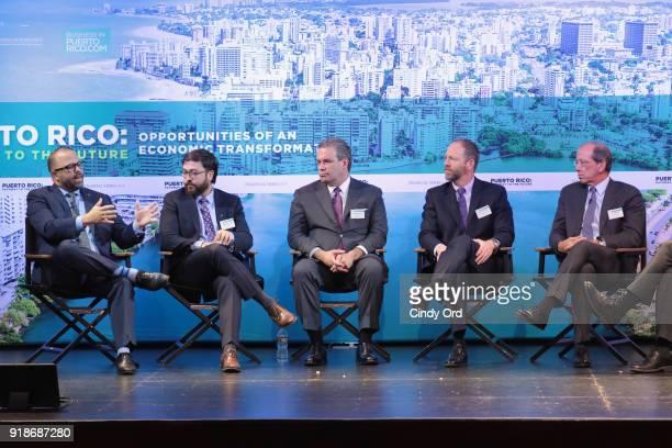 Department of Economic Development and Commerce Secretary Manuel Laboy P18 Ventures Fund Executive Director Sebastian Vidal Renovatio PR CEO J Robert...