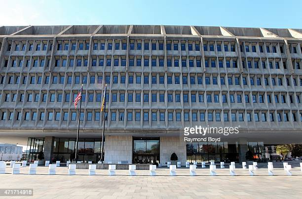Department Of Health and Human Services, Hubert H. Humphrey Building on April 11, 2015 in Washington, D.C.