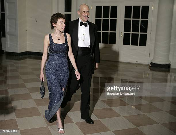 S Department of Homeland Security Secretary Michael Chertoff and his wife Meryl arrive at the White House for a state dinner February 26 2006 in...