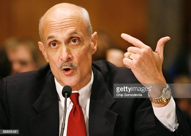 S Department of Homeland Security Secretary Michael Chertoff testifies before the Senate Committee on Homeland Security and Governmental Affairs...