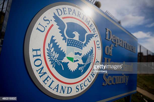 A US Department of Homeland Security sign stands at the agency's headquarters in Washington DC US on Thursday Dec 11 2014 The US House is set to pass...