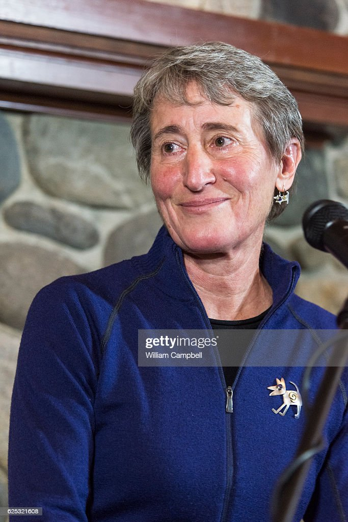 Department Of Interior Secretary Sally Jewell Speaks At Chico Hot Springs  In Paradise Valley, Montana