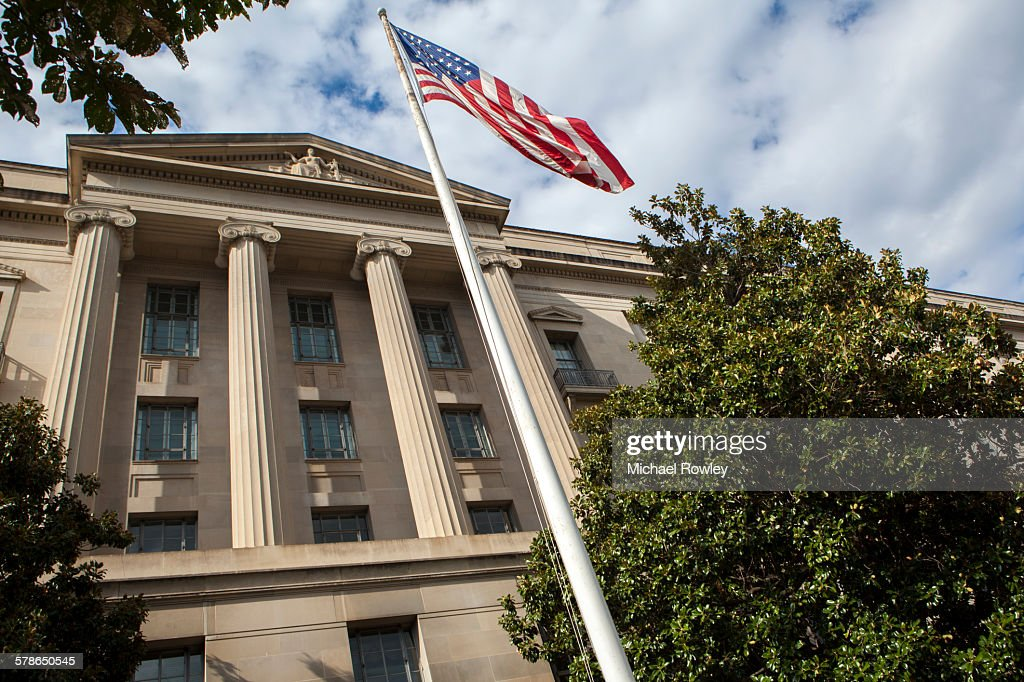 U.S. Department of Justice Building : Stock Photo
