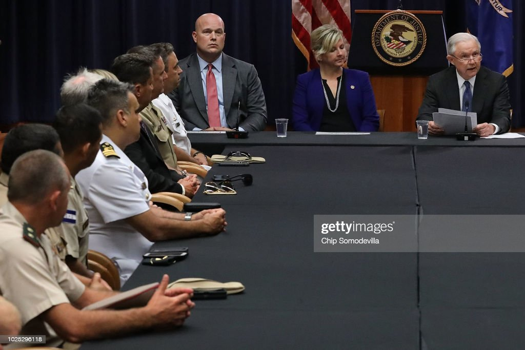 Attorney General Jeff Session Hosts Roundtable With Joint Interagency Task Force In D.C. : News Photo