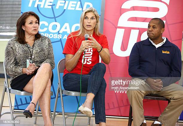 Department of Recreation and Parks East District Supervisor Veronica Rodriguez former professional volleyball player Gabrielle Reece and Heart of Los...