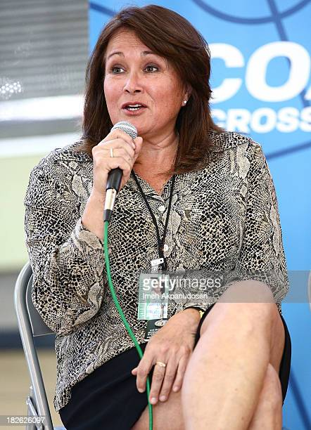 Department of Recreation and Parks East District Supervisor Veronica Rodriguez attends 'Creating Change Through Sports' hosted by Up2Us on October 1...
