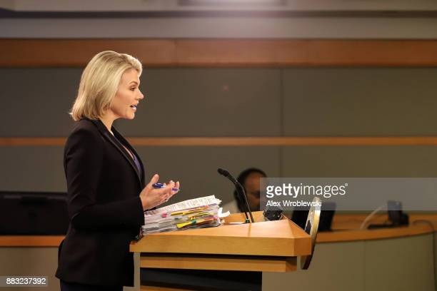 S Department of State spokesperson Heather Nauert speaks in the press briefing room at the Department of State on November 30 2017 in Washington DC...