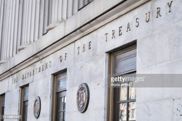 department of the treasury building - brycia james stock pictures, royalty-free photos & images