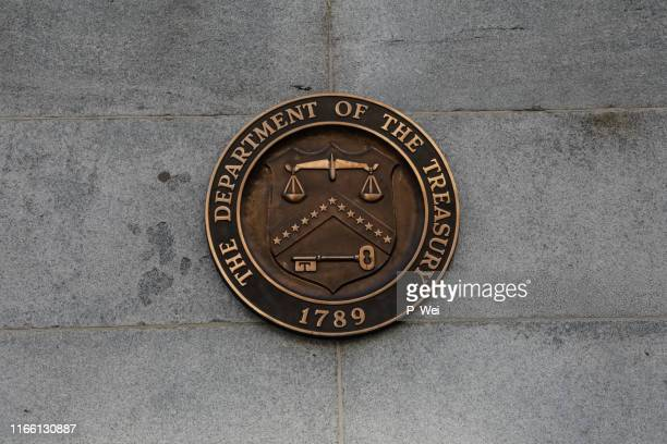 department of the treasury seal - secretary of the treasury stock pictures, royalty-free photos & images