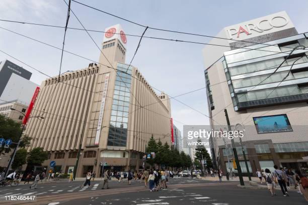 department stores in sapporo, hokkaido, japan - isetan mitsukoshi holdings stock pictures, royalty-free photos & images