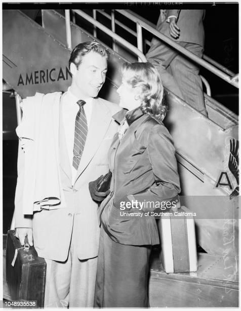 Departure April 16 1951 Lex ParkerArlene Dahl