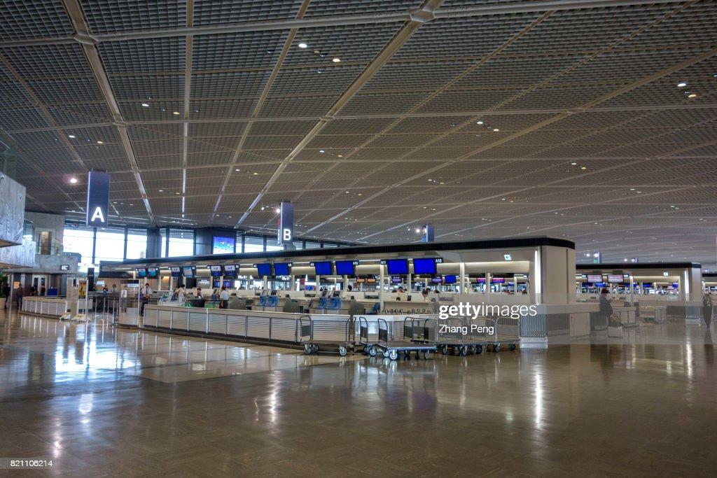 Departure area in Narita International Airport. Narita... : News Photo