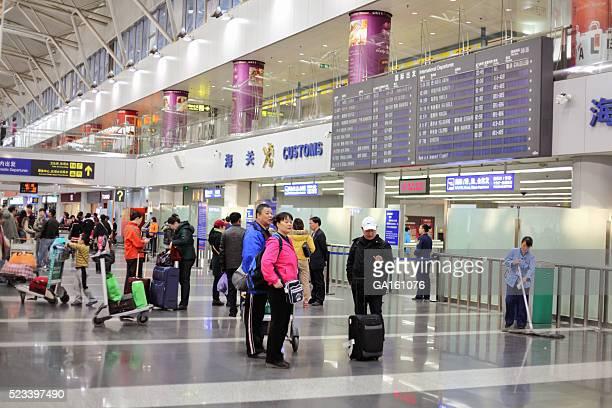 Departure area of Beijing Capital International Airport