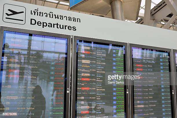 Departure board at airport