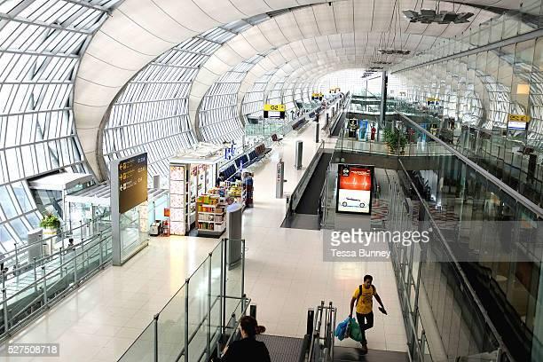 Departure gates in Suvarnabhumi Airport Bangkok Thailand Suvarnabhumi Airport also known as Bangkok International Airport is one of two international...