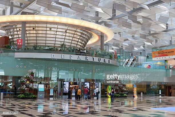 Departure hall at Changi airport