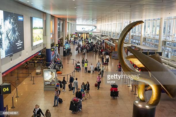 Departure hall in Brussels Airport,Belgium