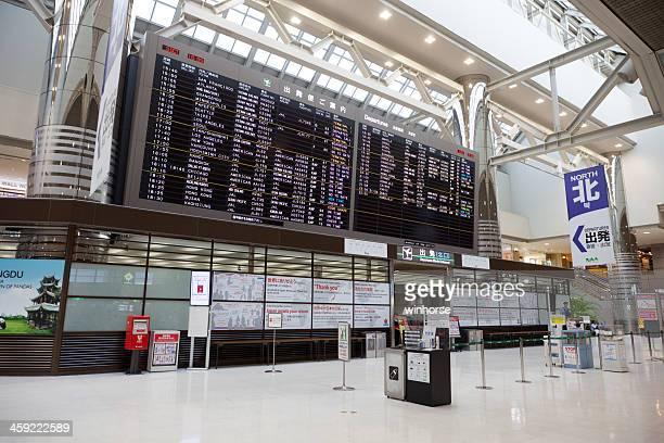 departure hall in narita international airport - narita international airport stock photos and pictures