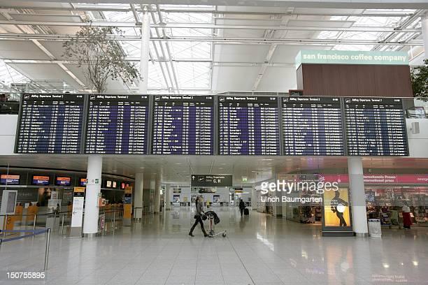 GERMANY MUNICH Departure hall terminal 2 of the Franz Josef Strauss airport in Munich MuenchenErding