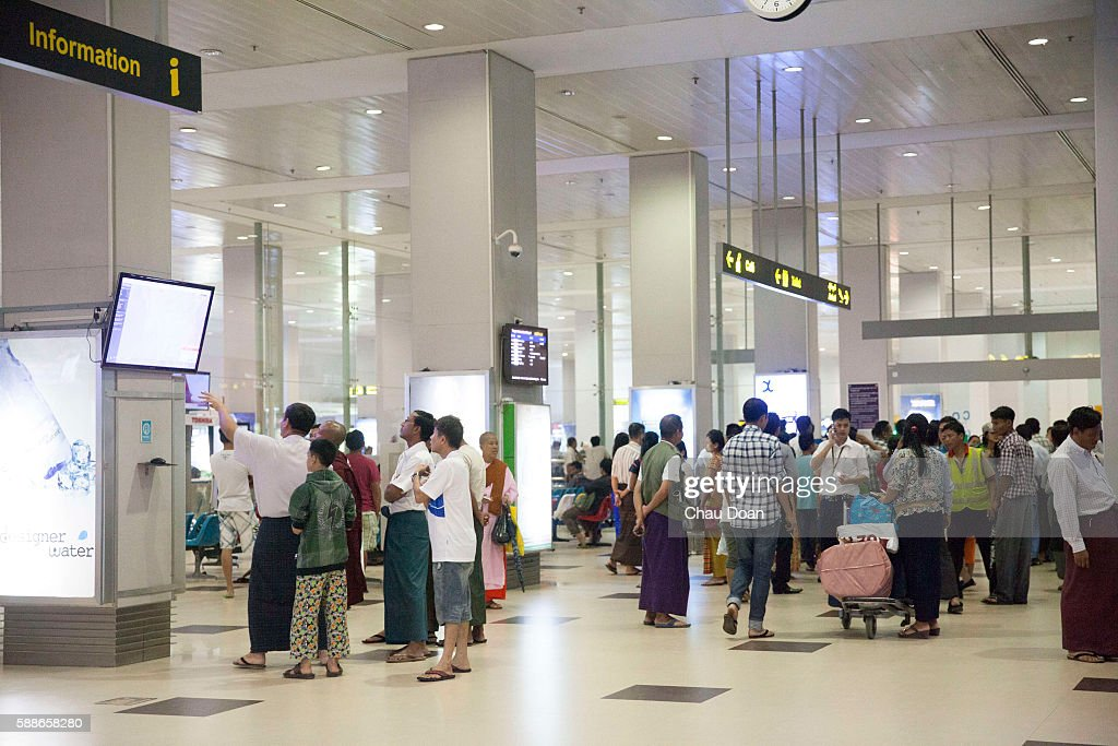 Departure Lounge At Yangon Airport News Photo Getty Images