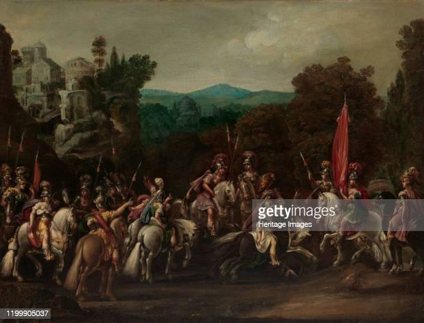 Departure of the Amazons, 1620s. Artist Claude Deruet.