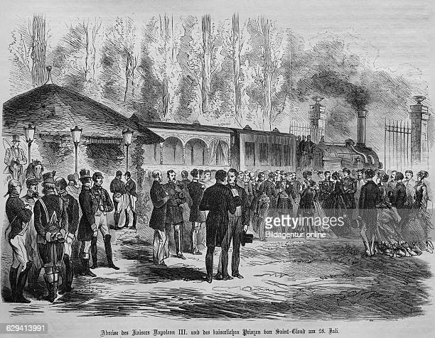 Departure of the emperor napoleon iii and the imperial prince in saint cloud on july 28th 1870 illustrated war history german french war 18701871