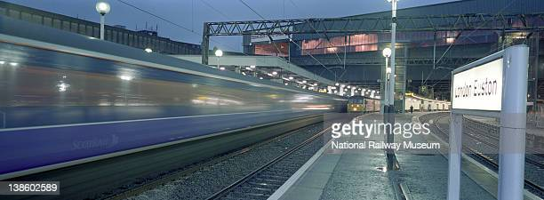 Departure of the ScotRail Caledonian Sleeper from Euston Station London 2000 The Caledonian Sleeper is operated by ScotRail It connects London Euston...