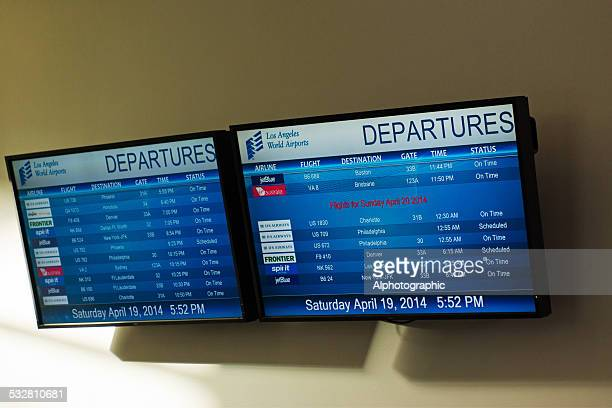 departure screens la airport - insight tv stock pictures, royalty-free photos & images
