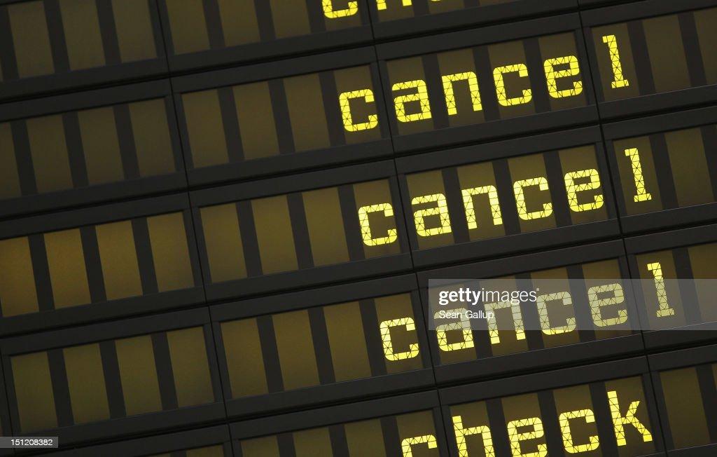 Lufthansa Cabin Crew Strike At Berlin Tegel : News Photo